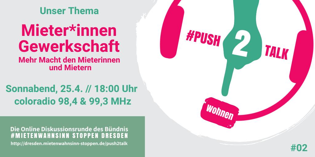 #push2talk Wohnen #2: Mieter*innen Gewerkschaft – Mehr Macht für Mieterinnen und Mieter