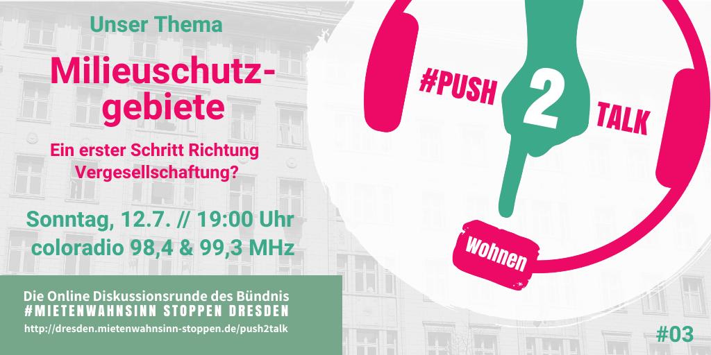 #push2talk Wohnen #3: Milieuschutzgebiete