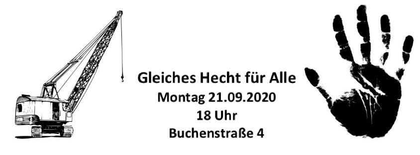 Gleiches Hecht für Alle – Anwohner:innenversammlung am Mo, 21.9. | 18 Uhr