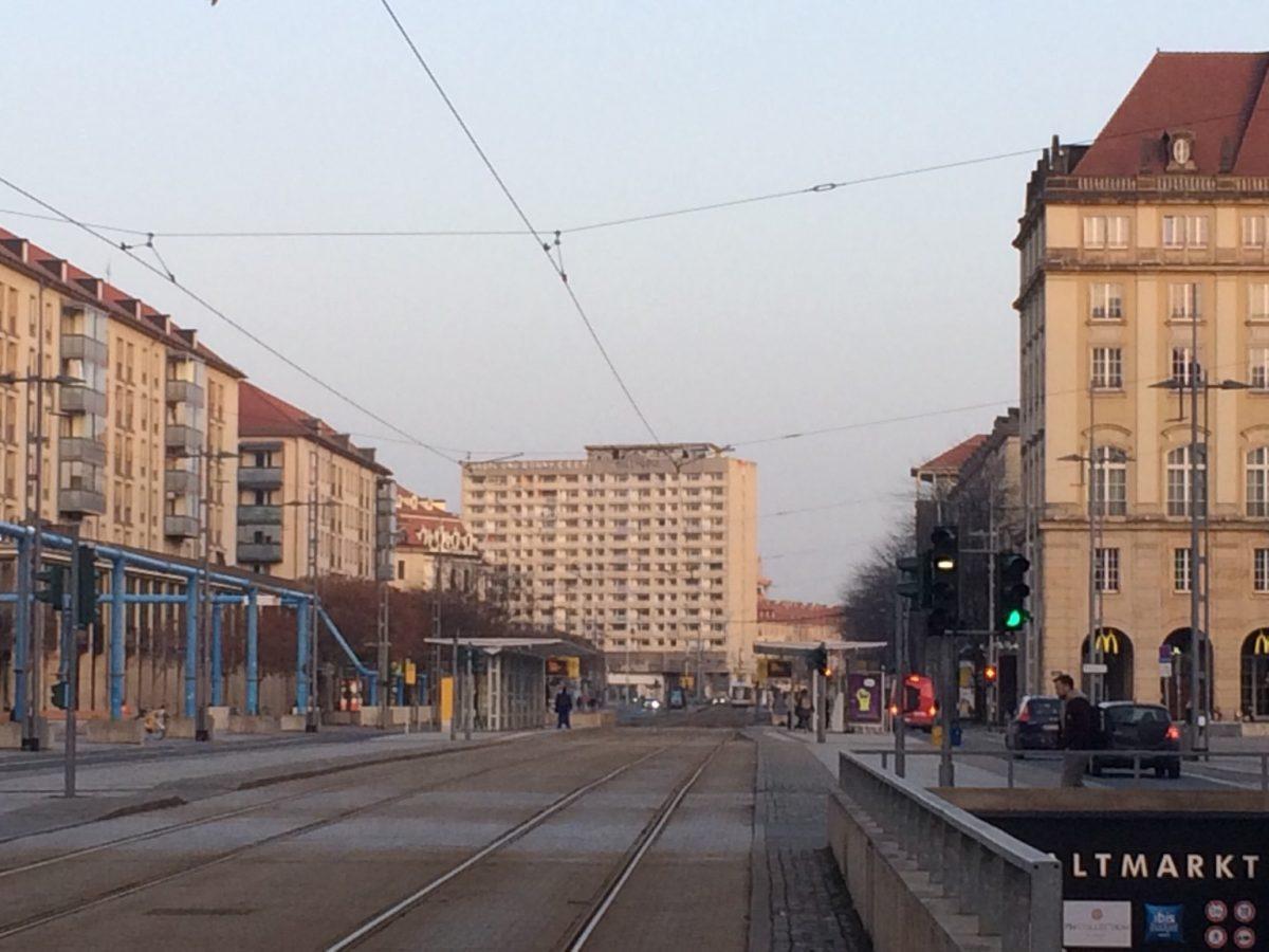 Das Hochhaus am Pirnaischen Platz