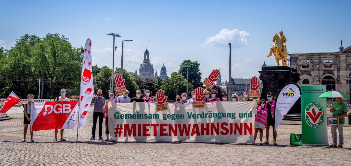 "Bundesweiter ""Mietenstopp""-Tag in Dresden"