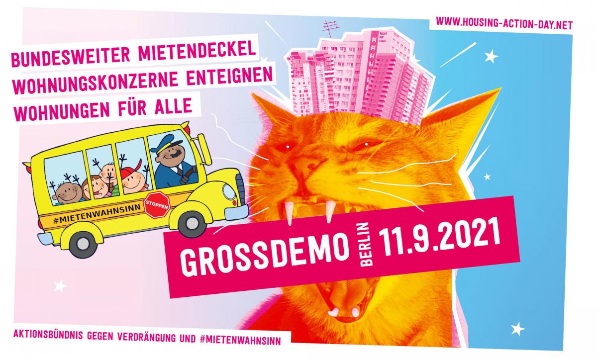 Save the date! – 11.09. Große Mieten-Demo in Berlin – Gemeinsame Busanreise