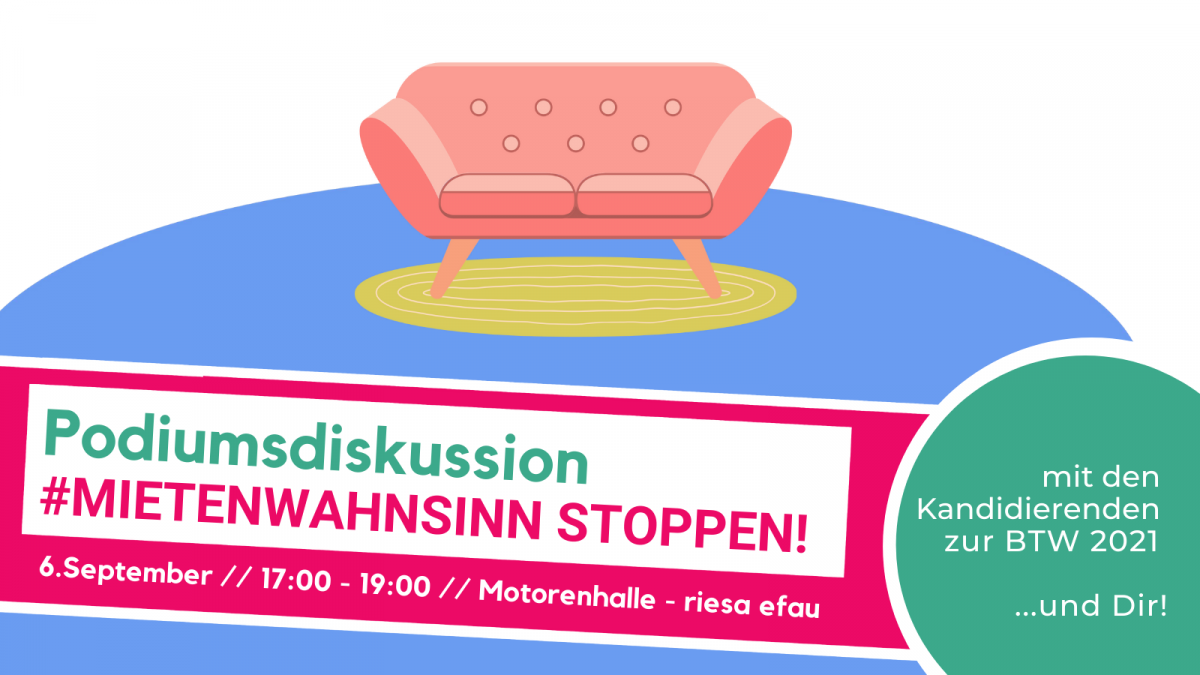 Podiumsdiskussion am Montag, 06.09.2021
